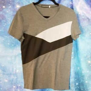 Other - Abstract Colorblock Cut and Sew Tee